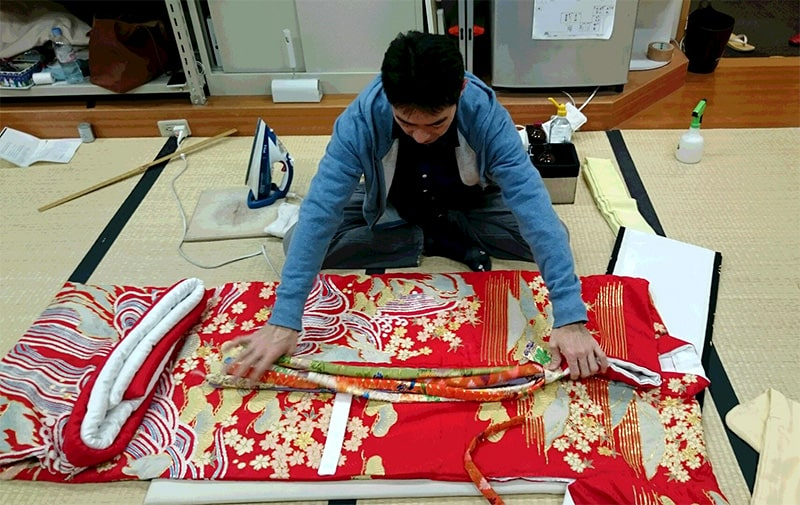 公演後の歌舞伎衣裳(衣装)の保管